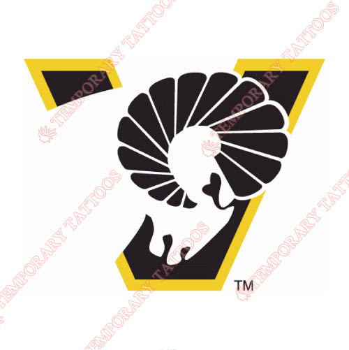 Virginia Commonwealth Rams Customize Temporary Tattoos Stickers NO.6838