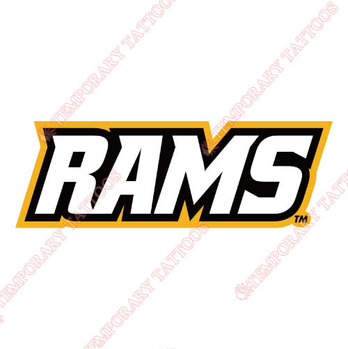 Virginia Commonwealth Rams Customize Temporary Tattoos Stickers NO.6840