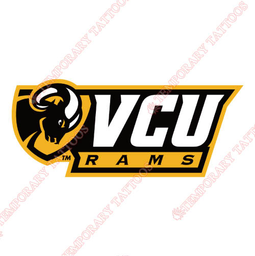 Virginia Commonwealth Rams Customize Temporary Tattoos Stickers NO.6846