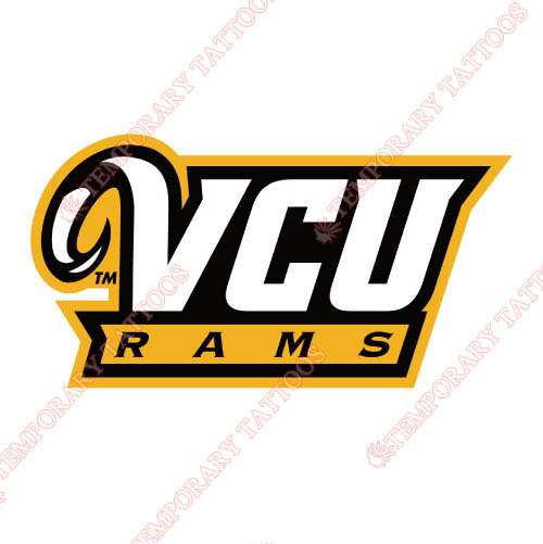 Virginia Commonwealth Rams Customize Temporary Tattoos Stickers NO.6849