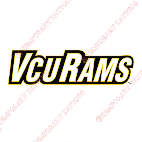 Virginia Commonwealth Rams Customize Temporary Tattoos Stickers NO.6857