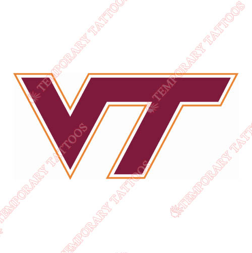 Virginia Tech Hokies Customize Temporary Tattoos Stickers NO.6863