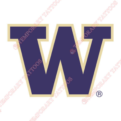 Washington Huskies Customize Temporary Tattoos Stickers NO.6885