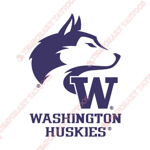 Washington Huskies Customize Temporary Tattoos Stickers NO.6887