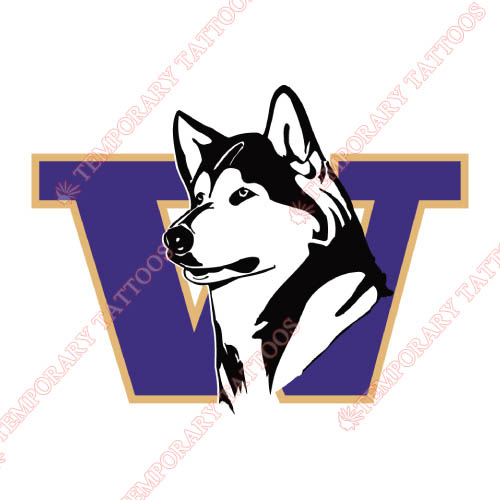 Washington Huskies Customize Temporary Tattoos Stickers NO.6888