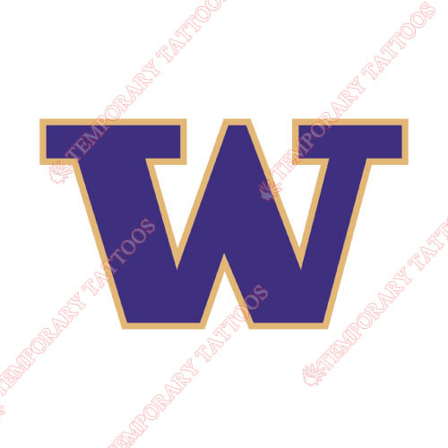 Washington Huskies Customize Temporary Tattoos Stickers NO.6891