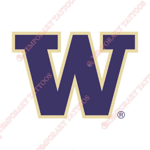 Washington Huskies Customize Temporary Tattoos Stickers NO.6896