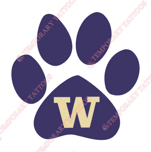 Washington Huskies Customize Temporary Tattoos Stickers NO.6900