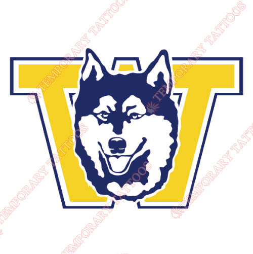 Washington Huskies Customize Temporary Tattoos Stickers NO.6903