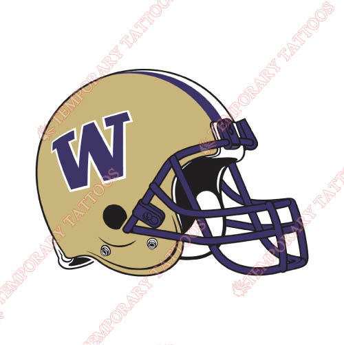 Washington Huskies Customize Temporary Tattoos Stickers NO.6904