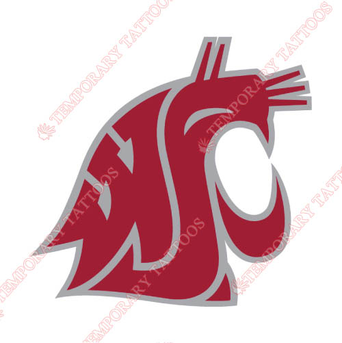 Washington State Cougars Customize Temporary Tattoos Stickers NO.6906