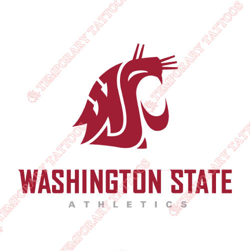 Washington State Cougars Customize Temporary Tattoos Stickers NO.6907