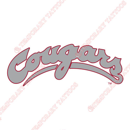 Washington State Cougars Customize Temporary Tattoos Stickers NO.6908
