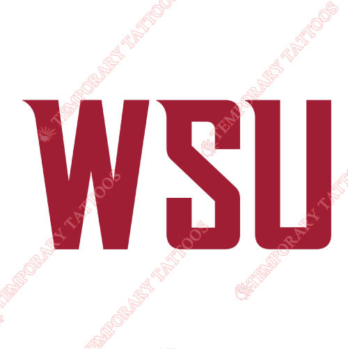 Washington State Cougars Customize Temporary Tattoos Stickers NO.6909