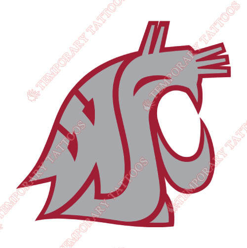 Washington State Cougars Customize Temporary Tattoos Stickers NO.6912