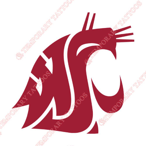 Washington State Cougars Customize Temporary Tattoos Stickers NO.6913