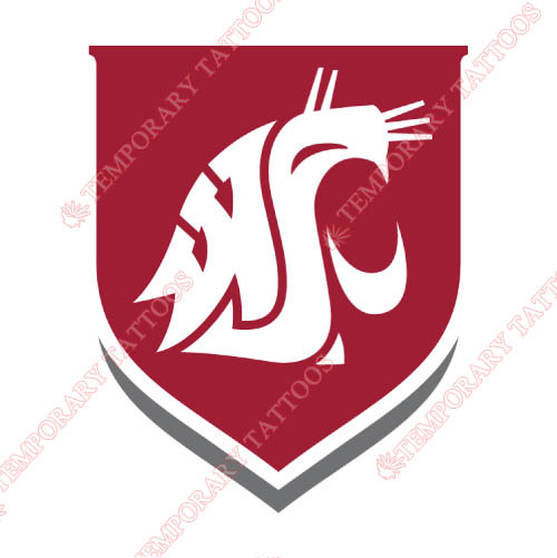 Washington State Cougars Customize Temporary Tattoos Stickers NO.6914