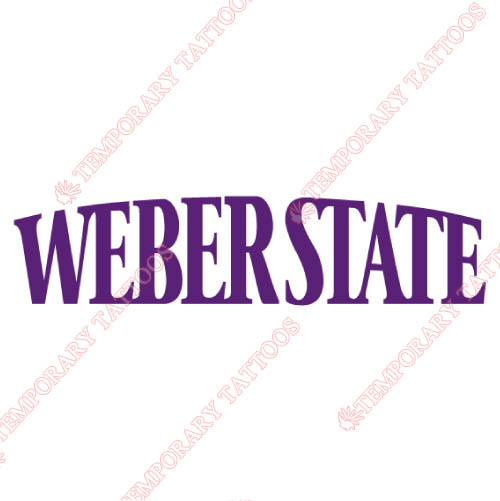 Weber State Wildcats Customize Temporary Tattoos Stickers NO.6916