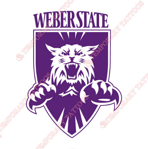 Weber State Wildcats Customize Temporary Tattoos Stickers NO.6917