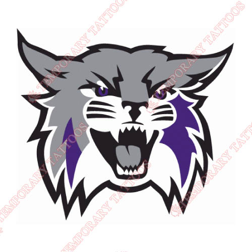 Weber State Wildcats Customize Temporary Tattoos Stickers NO.6918