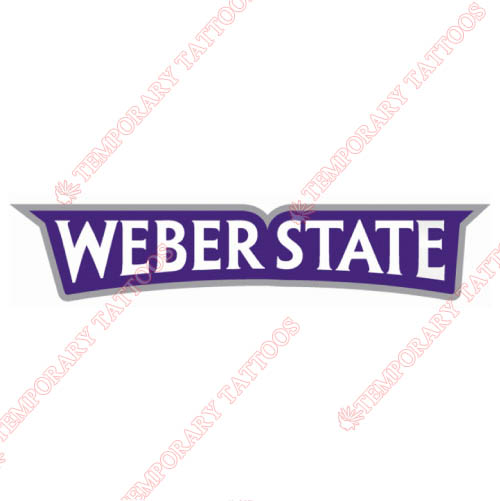 Weber State Wildcats Customize Temporary Tattoos Stickers NO.6919