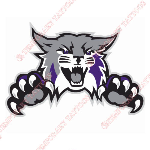 Weber State Wildcats Customize Temporary Tattoos Stickers NO.6922