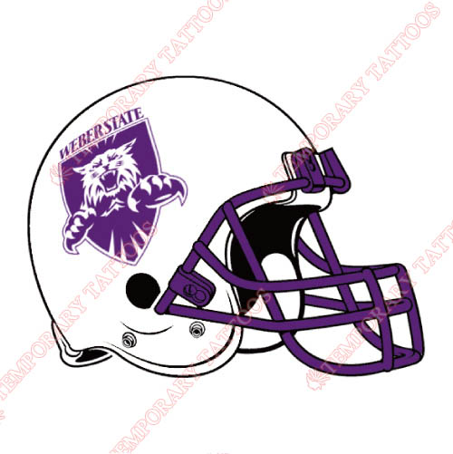 Weber State Wildcats Customize Temporary Tattoos Stickers NO.6924