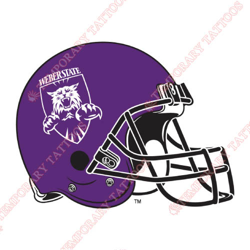 Weber State Wildcats Customize Temporary Tattoos Stickers NO.6925