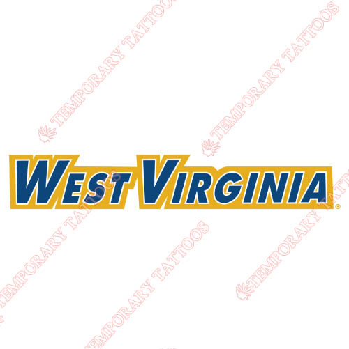West Virginia Mountaineers Customize Temporary Tattoos Stickers NO.6929