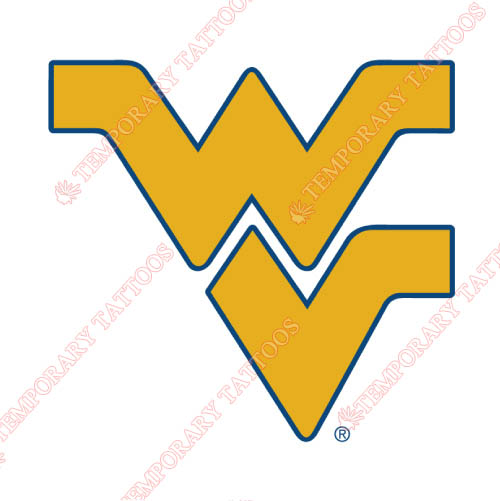West Virginia Mountaineers Customize Temporary Tattoos Stickers NO.6936