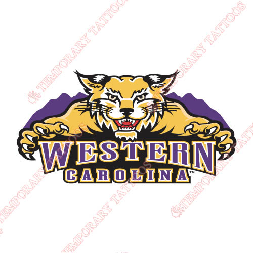 Western Carolina Catamounts Customize Temporary Tattoos Stickers NO.6942