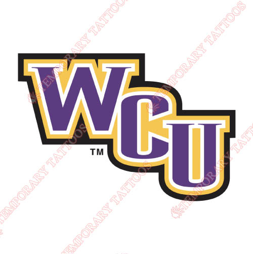 Western Carolina Catamounts Customize Temporary Tattoos Stickers NO.6943