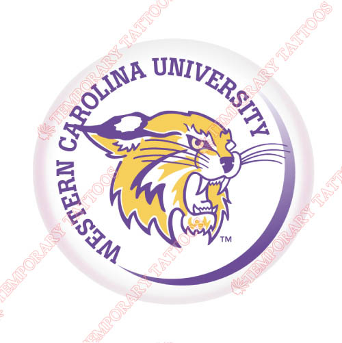 Western Carolina Catamounts Customize Temporary Tattoos Stickers NO.6945