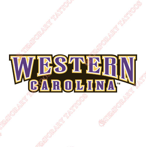 Western Carolina Catamounts Customize Temporary Tattoos Stickers NO.6951