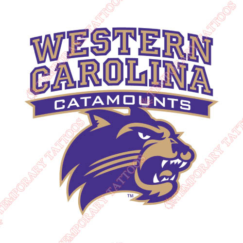 Western Carolina Catamounts Customize Temporary Tattoos Stickers NO.6955
