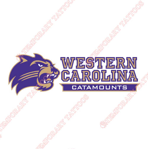 Western Carolina Catamounts Customize Temporary Tattoos Stickers NO.6958