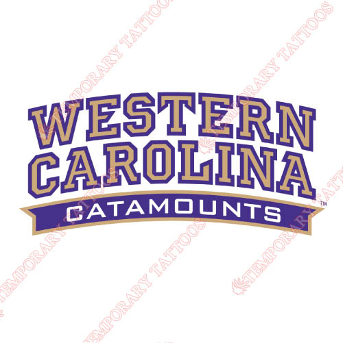 Western Carolina Catamounts Customize Temporary Tattoos Stickers NO.6959