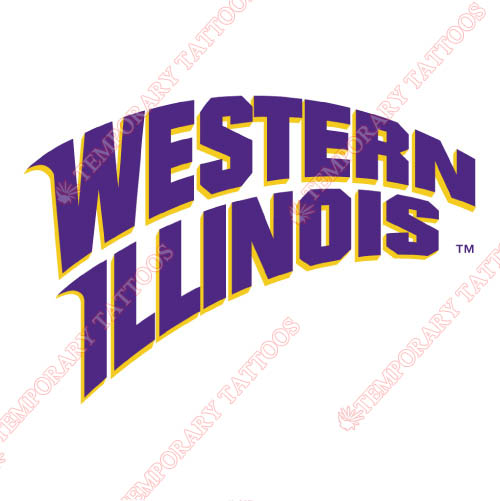 Western Illinois Leathernecks Customize Temporary Tattoos Stickers NO.6962
