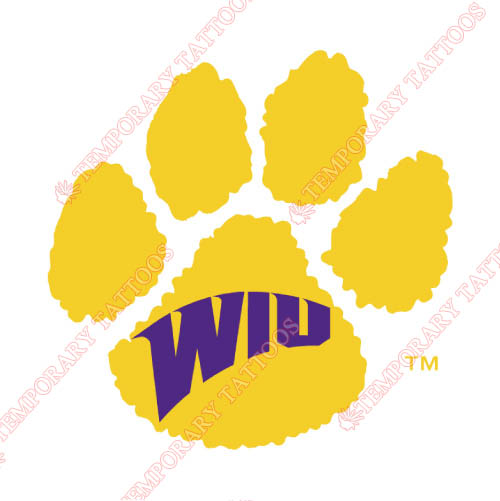 Western Illinois Leathernecks Customize Temporary Tattoos Stickers NO.6963