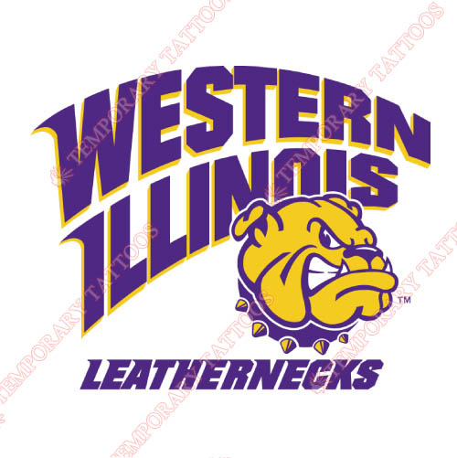 Western Illinois Leathernecks Customize Temporary Tattoos Stickers NO.6964