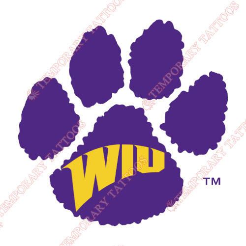 Western Illinois Leathernecks Customize Temporary Tattoos Stickers NO.6965