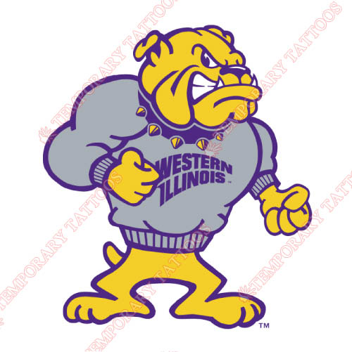 Western Illinois Leathernecks Customize Temporary Tattoos Stickers NO.6968
