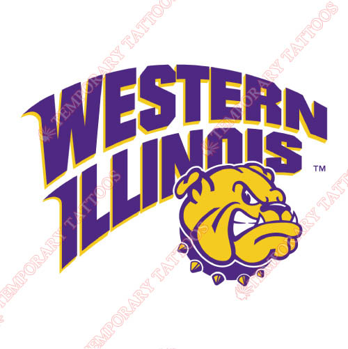 Western Illinois Leathernecks Customize Temporary Tattoos Stickers NO.6970