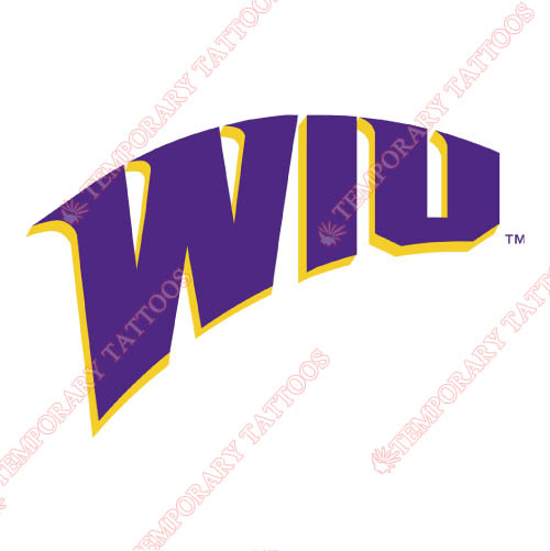 Western Illinois Leathernecks Customize Temporary Tattoos Stickers NO.6971