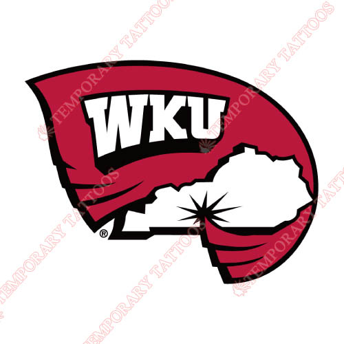 Western Kentucky Hilltoppers Customize Temporary Tattoos Stickers NO.6973