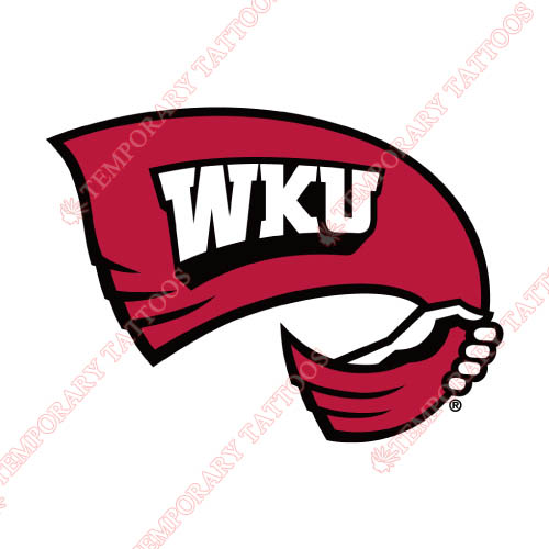 Western Kentucky Hilltoppers Customize Temporary Tattoos Stickers NO.6976
