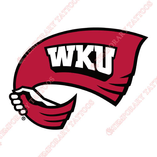 Western Kentucky Hilltoppers Customize Temporary Tattoos Stickers NO.6979
