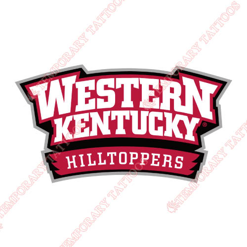 Western Kentucky Hilltoppers Customize Temporary Tattoos Stickers NO.6980