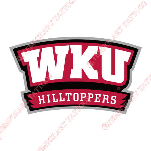 Western Kentucky Hilltoppers Customize Temporary Tattoos Stickers NO.6981