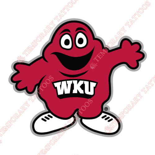 Western Kentucky Hilltoppers Customize Temporary Tattoos Stickers NO.6983